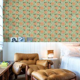 papel-de-parede-rosas-e-florzinhas-verde-claro
