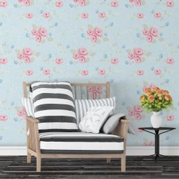 Papel-de-Parede-Desenho-Animado-com-Onomatopeias-Amarelo-Claro--Floral-Rosas-FROSAS51