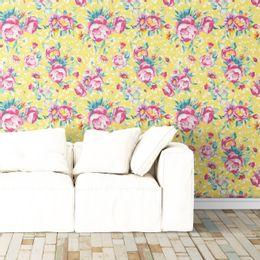 papel-de-parede-floral-colorido-em-rosas-mostarda