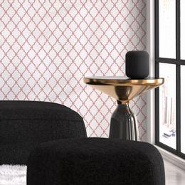 papel-de-parede-geometrico-rosa-queimado