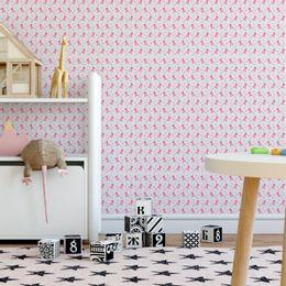 papel-de-parede-princesa-e-coroa-rosa-claro