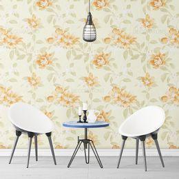 papel-de-parede-ramos-e-flores-amarelo-claro