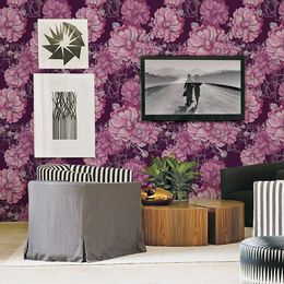 papel-de-parede-floral-rosa-e-roxo