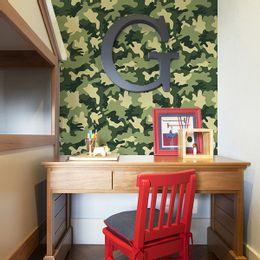 papel-de-parede-camuflagem-floresta-verde