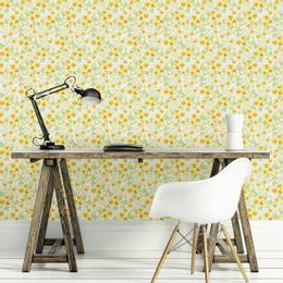 papel-de-parede-floral-mini-amarelo
