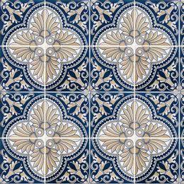 papel-de-parede-azulejo-portugues-azul-meia-noite-e-amarelo-caqui-azul-royal-