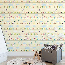 papel-de-parede-passarinhos-no-fios-amarelo-claro1