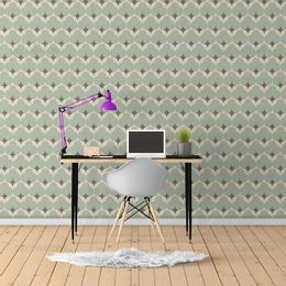 papel-de-parede-classico-abstrato-retro-verde1