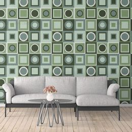papel-de-parede-abstrato-retro-quadrado-verde1