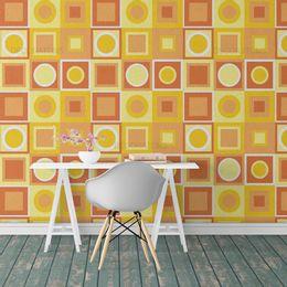 papel-de-parede-abstrato-retro-quadrado-laranja1