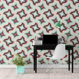 papel-de-parede-abstrato-retro-contorno-verde-claro1