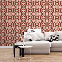 papel-de-parede-abstrato-retro-geometrico-vermelho-escuro1