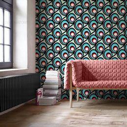 papel-de-parede-abstrato-retro-vintage-verde-claro1