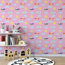 papel-de-parede-listras-com-nuvens-avioes-rosa1