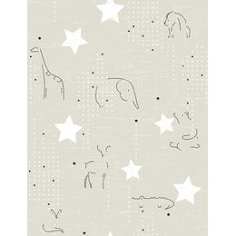 papel-de-parede-silhueta-animais-bege