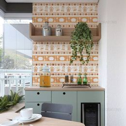 papel-de-parede-chaleira-e-panelas-laranja1
