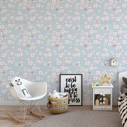 papel-de-parede-ovelhinhas-flores-azul-claro1