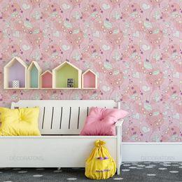 papel-de-parede-ramos-flores-coracoes-e-passaros-rosa1