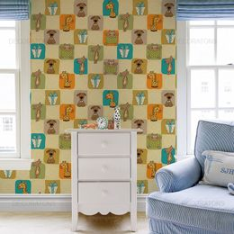 papel-de-parede-cachorrinhos-gatinhos-e-girafinhas-bege1