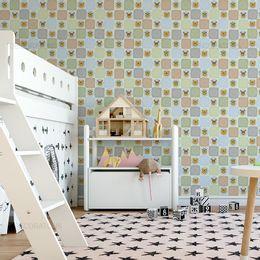 papel-de-parede-animais-felizes-verde-claro1