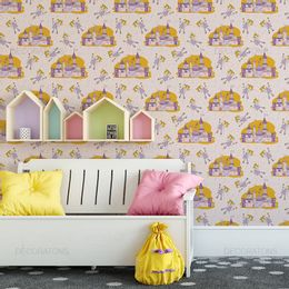 papel-de-parede-castelo-de-fadas-rosa-claro1
