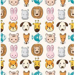 papel-de-parede-animais-do-zoologico-colorido