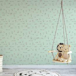 papel-de-parede-animais-de-circo-verde-claro1