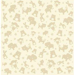 papel-de-parede-animais-da-savana-silhueta-creme