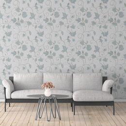 papel-de-parede-vintage-floral-cinza1
