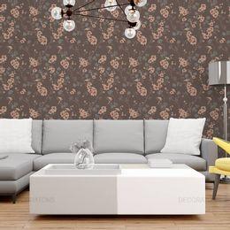 papel-de-parede-botoes-de-flores-fundo-marrom1