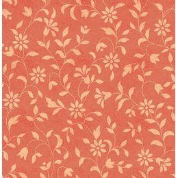 papel-de-parede-floral-ramalhete-coral