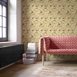 papel-de-parede-flores-vintage-amarelo-claro1