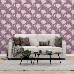 papel-de-parede-floral-roxo1