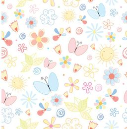 Papel-de-parede-borboletas-jardim-colorido