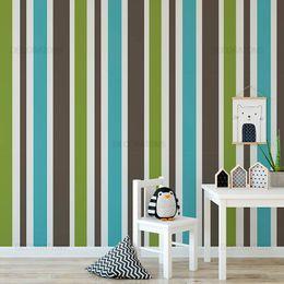 papel-de-parede-listrado-vertical-azul-com-marrom-e-verde