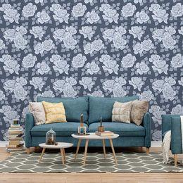 papel-de-parede-rosas-delicadas-classico-azul-marinho1