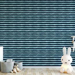 papel-de-parede-listrado-horizontal-azul-pintura