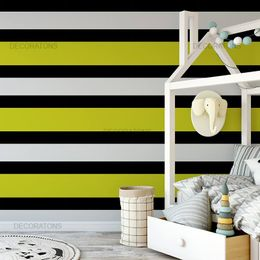 papel-de-parede-listrado-horizontal-amarelo-e-preto