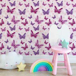 papel-de-parede-borboleta-roxa-e-lilas-com-rosa-claro