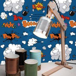 papel-de-parede-desenho-animado-com-onomatopeias-azul-cobalto-1