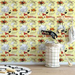 papel-de-parede-desenho-animado-com-onomatopeias-amarelo-claro-1
