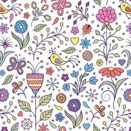 papel-de-parede-flores-com-joaninha-e-passaro-colorido