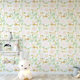 papel-de-parede-peixes-e-flores-amarelo-claro-1