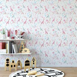 papel-de-parede-girafa-e-rosas-branco