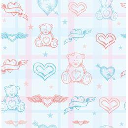 papel-de-parede-urso-e-coracao-azul-claro