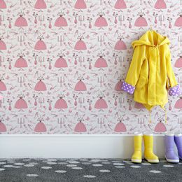papel-de-parede-princesa-vestido-e-vaso-de-flores-rosa-1