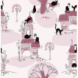 papel-de-parede-castelo-com-gatos-ameixa
