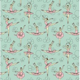 papel-de-parede-bailarinas-encantadas-verde