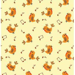 papel-de-parede-passaros-cantantes-amarelo-claro