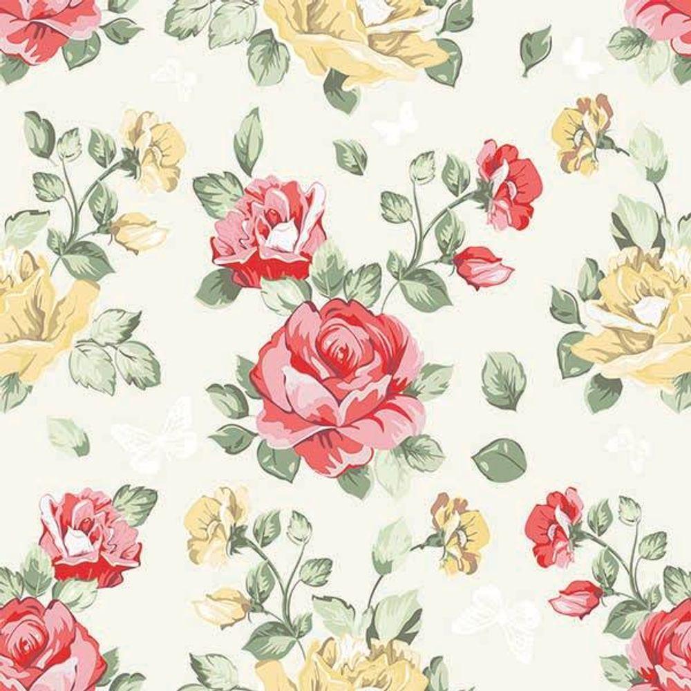 Papel De Parede Rosas Amarelas E Vermelhas Decoratons